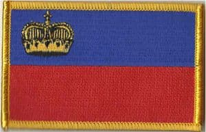 Liechtenstein Embroidered Flag Patch, style 08