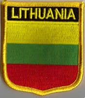 Lithuania Embroidered Flag Patch, style 07.