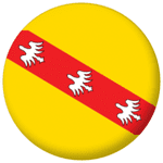 Lorraine Province Flag 25mm Pin Button Badge