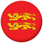 Lower Normandy Province Flag 58mm Button Badge