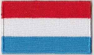 Luxembourg Embroidered Flag Patch, style 04.
