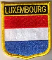 Luxembourg Embroidered Flag Patch, style 07.