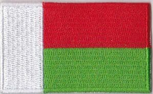 Madagascar Embroidered Flag Patch, style 04