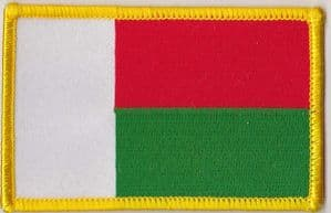 Madagascar Embroidered Flag Patch, style 08.
