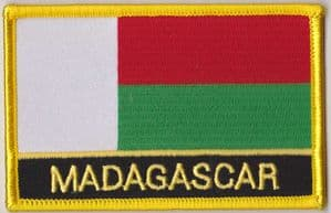 Madagascar Embroidered Flag Patch, style 09.
