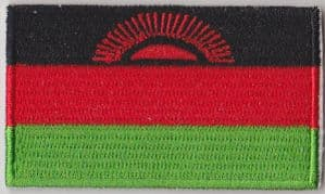 Malawi Embroidered Flag Patch, style 04