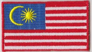 Malaysia Embroidered Flag Patch, style 04.