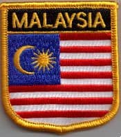 Malaysia Embroidered Flag Patch, style 07.