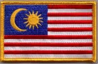 Malaysia Embroidered Flag Patch, style 08.