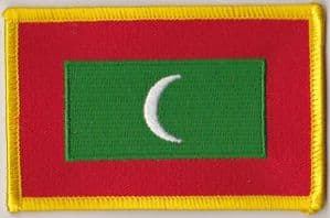 Maldives Embroidered Flag Patch, style 08.