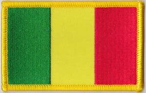 Mali Embroidered Flag Patch, style 08.