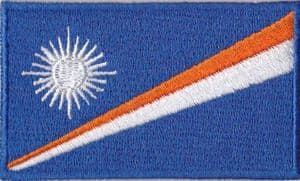 Marsall Islands Embroidered Flag Patch, style 04