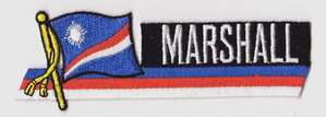 Marshall Islands Embroidered Flag Patch, style 01.