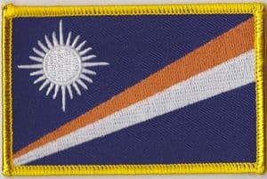 Marshall Islands Embroidered Flag Patch, style 08.