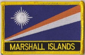 Marshall Islands Embroidered Flag Patch, style 09.