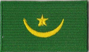 Mauritania 1959-2017 Embroidered Flag Patch, style 04