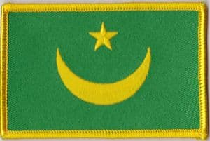 Mauritania 1959-2017 Embroidered Flag Patch, style 08.