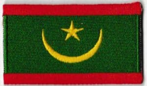 Mauritania Embroidered Flag Patch, style 04