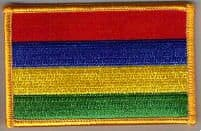 Mauritius Embroidered Flag Patch, style 08.