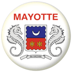 Mayotte Province Flag 25mm Flat Back