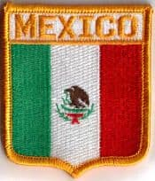 Mexico Embroidered Flag Patch, style 06.