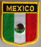Mexico Embroidered Flag Patch, style 07.