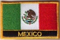 Mexico Embroidered Flag Patch, style 09.