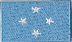 Micronesia Embroidered Flag Patch, style 04