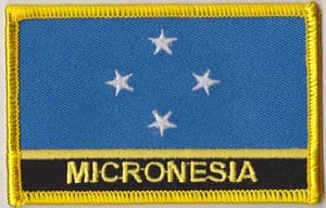 Micronesia Embroidered Flag Patch, style 09.
