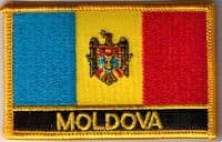 Moldova Embroidered Flag Patch, style 09.