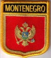 Montenegro Embroidered Flag Patch, style 07