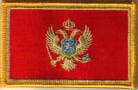 Montenegro Embroidered Flag Patch, style 08