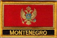 Montenegro Embroidered Flag Patch, style 09