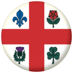 Montreal Flag 25mm Button Badge