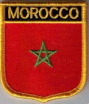 Morocco Embroidered Flag Patch, style 07.