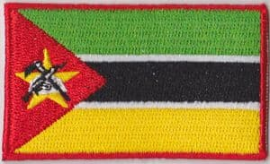 Mozambique Embroidered Flag Patch, style 04
