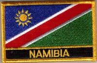 Namibia Embroidered Flag Patch, style 09.