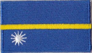 Nauru Embroidered Flag Patch, style 04