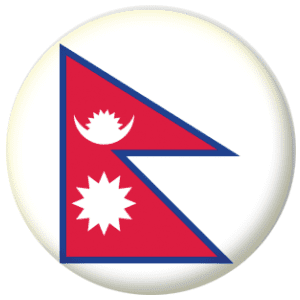 Nepal Country Flag 25mm Pin Button Badge