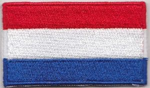 Netherlands Embroidered Flag Patch, style 04.