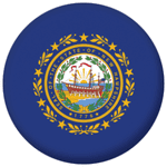 New Hampshire State Flag 58mm Mirror