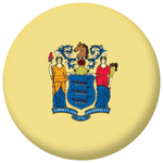 New Jersey State Flag 25mm Pin Button Badge