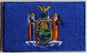 New York Embroidered Flag Patch, style 04