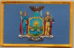 New York Embroidered Flag Patch, style 08.