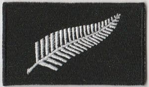 New Zealand Fern Embroidered Flag Patch, style 04