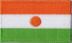 Niger Embroidered Flag Patch, style 04