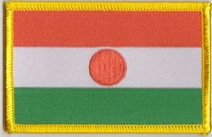 Niger Embroidered Flag Patch, style 08.
