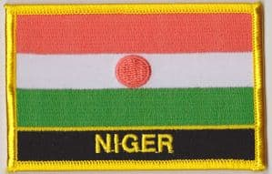 Niger Embroidered Flag Patch, style 09.