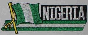 Nigeria Embroidered Flag Patch, style 01.