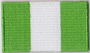 Nigeria Embroidered Flag Patch, style 04.